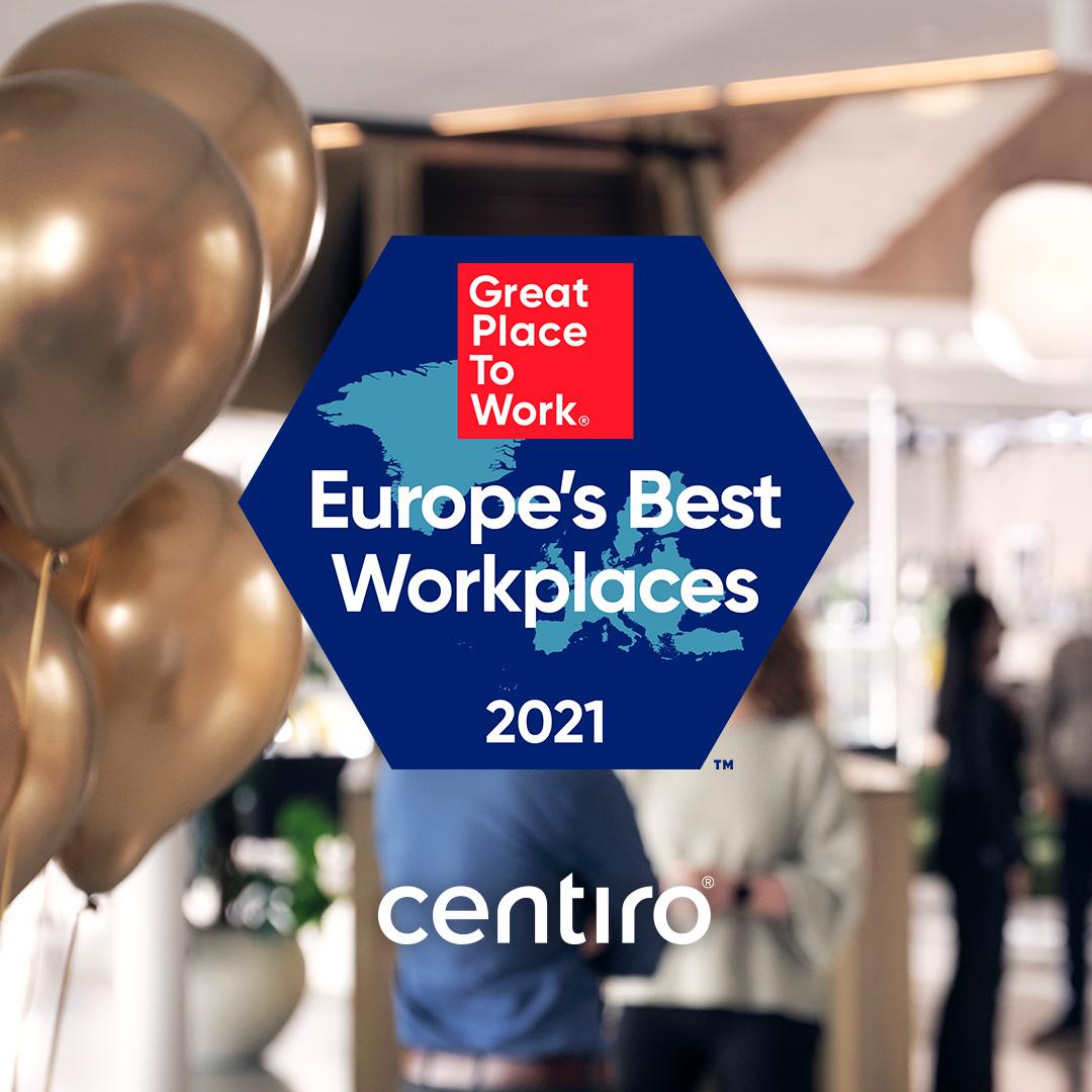 Centiro is Top Ten on Europe's Best Workplaces list