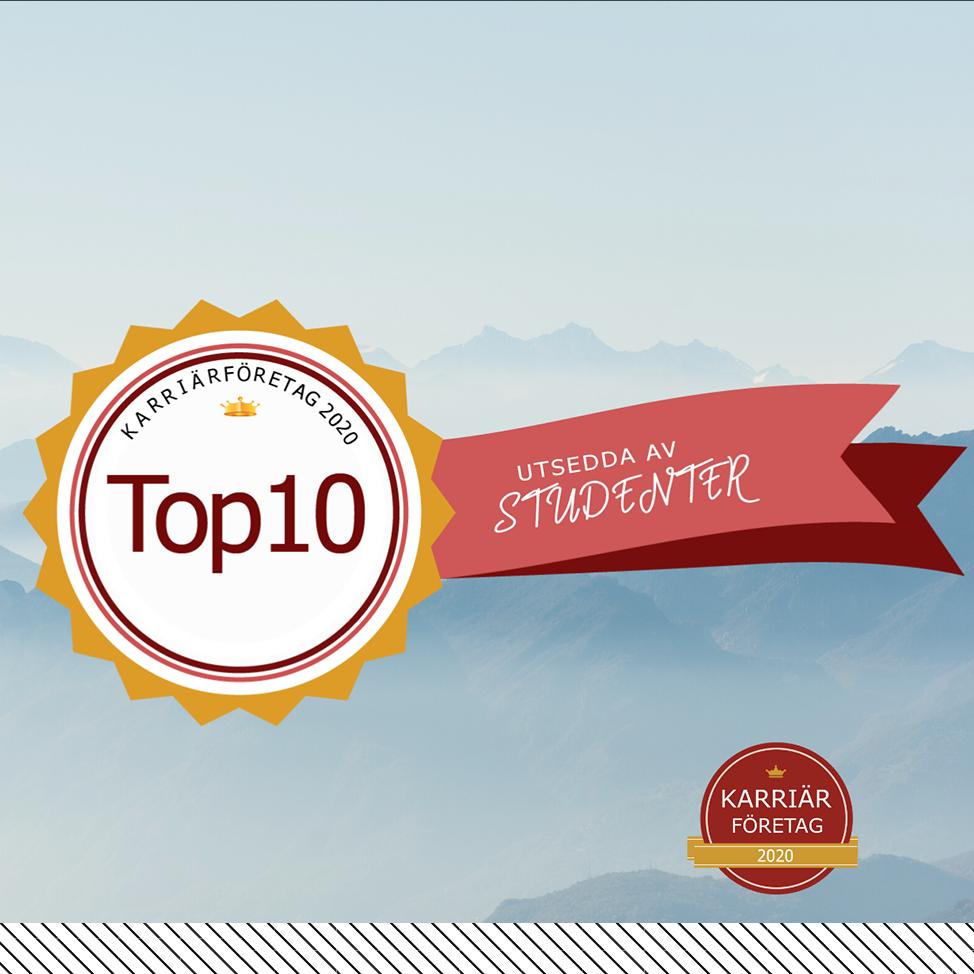 Diploma Top 10 list karriärföretagen
